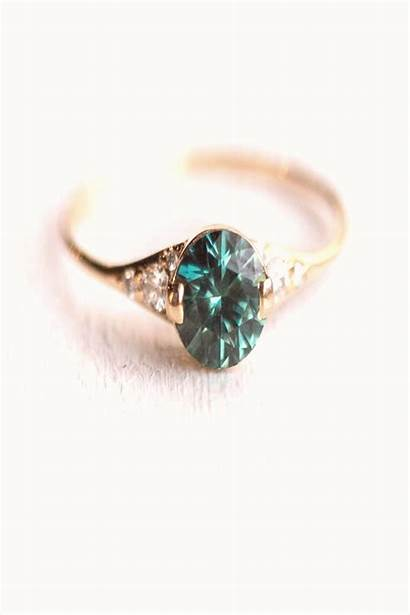 Engagement Ring Yellow Sapphire Solid Teal 14k
