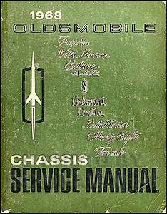 1968 Olds Cutlass  442  F85 Wiring Diagram Manual Reprint