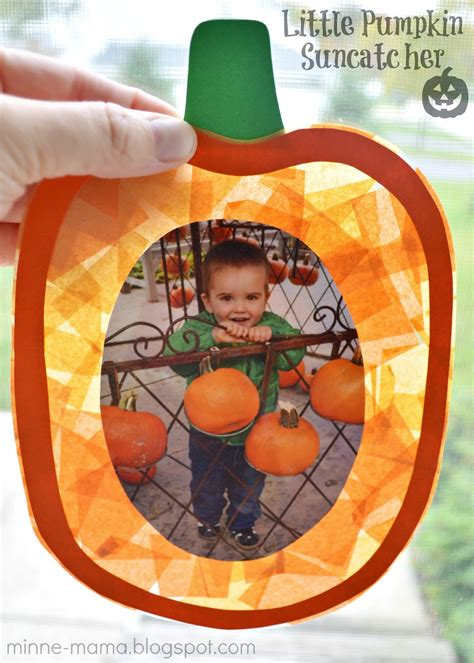 25 pumpkin crafts for and a 500 giveaway 679 | Pumpkin Suncatcher Craft