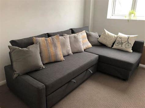 ikea corner sofa bed  storage friheten skiftebo dark grey clickfurnishcom
