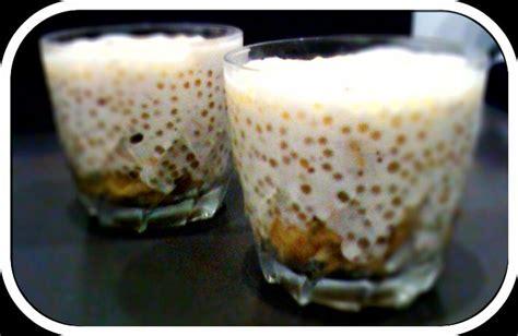dessert perle du japon perles du japon au lait de coco et aux bananes avec