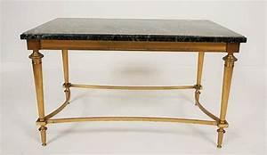 Table Marbre Rectangulaire : table basse rectangulaire en marbre et bronze dore ~ Teatrodelosmanantiales.com Idées de Décoration