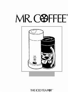 Mr  Coffee Ice Tea Maker Tm1 User Guide