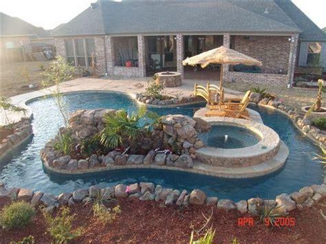 Backyard Pool With Lazy River by Best 25 Backyard Lazy River Ideas On Pool