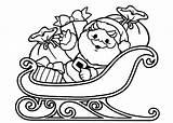 Sleigh Coloring Santa Claus Printable Procoloring Clipart Reindeer Noel Papa Clip Library sketch template
