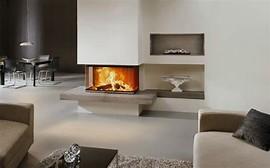 HD Wallpapers Wohnzimmer Ofen Modern