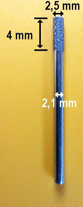 diamantbohrer 5 mm diamantbohrer 216 2 5 mm schaft 2 1 mm topgeo