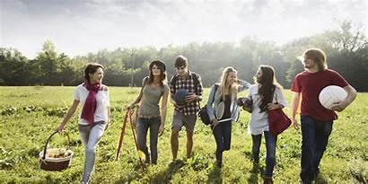 Walking Friends Together Church Summer Abundant Outside