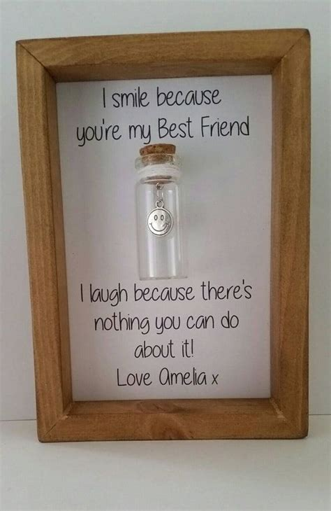 humorous personalised gift  friend real wood frame