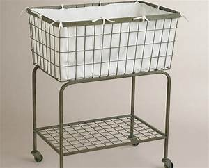 Laundry Baskets With Wheels.Image Of Wire Laundry Basket ...