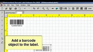 how to create incremented barcodes using the barcode label With how to make a barcode