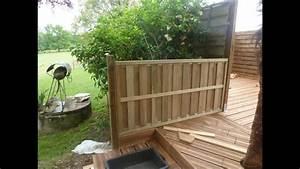 Terrasse Avec Palette : terrasse en bois sur terrain non stabilis youtube ~ Melissatoandfro.com Idées de Décoration