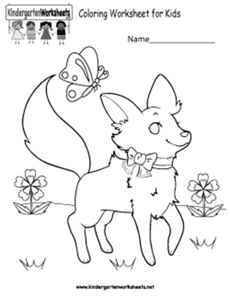 free kindergarten coloring worksheets learning with a fun activity