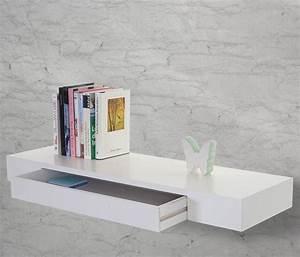 Wandregal Weiß Mit Schubladen : wandregal oise h ngeregal regal 80cm schublade real ~ Indierocktalk.com Haus und Dekorationen