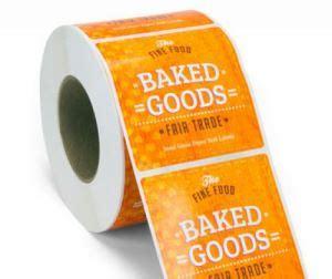 custom printing  adhesive paper roll labels  foods