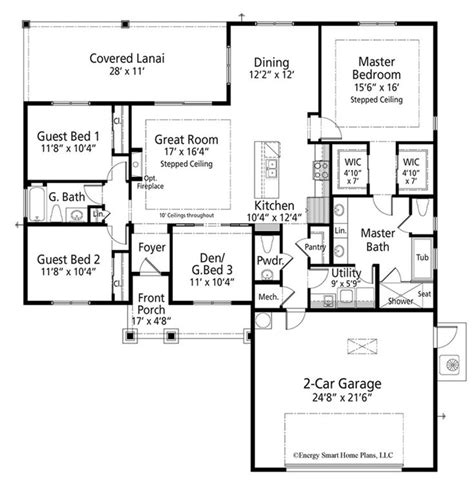 Craftsman Style House Plan 3 Beds 2 5 Baths 1920 Sq/Ft