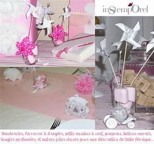Decoration Pour Bapteme Fille : idee deco bapteme fille faire soi meme visuel 6 ~ Mglfilm.com Idées de Décoration