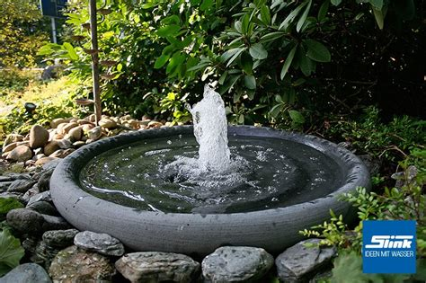Springbrunnen Fontänenschale Solo  Slink  Ideen Mit Wasser