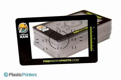 Business Cards Card Plastic Photographer Company Impress