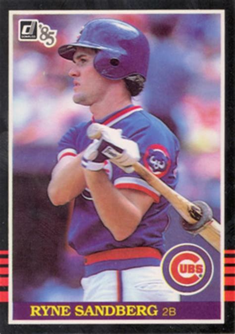 donruss ryne sandberg  baseball card  price guide