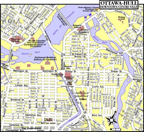 map  ottawa north america maps map pictures