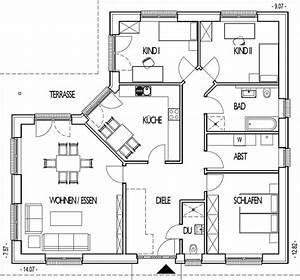 Pläne Für Häuser : die besten 25 grundriss bungalow ideen auf pinterest ~ Lizthompson.info Haus und Dekorationen