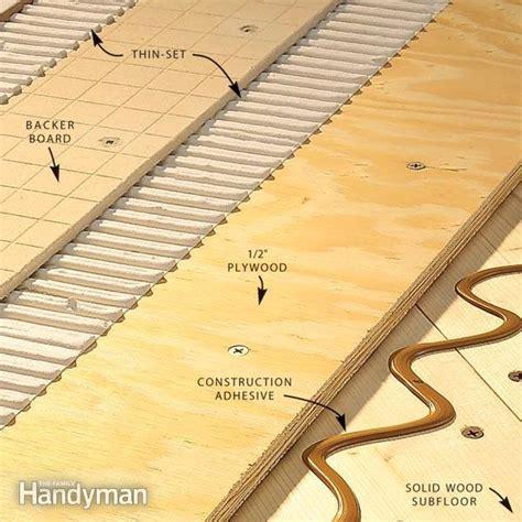 install tile backer board   wood subfloor
