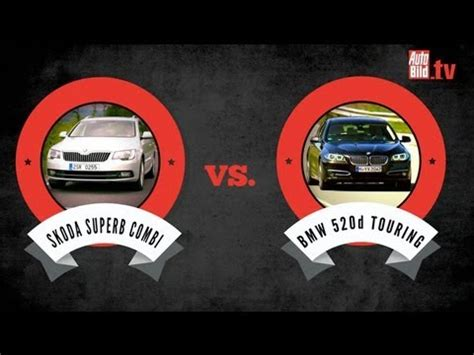 skoda superb combi  bmw er touring youtube