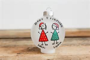 best friends christmas ornament personalized for free