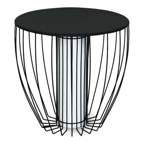 alinea bout de canap bout de canap 233 lumineux en acier noir tables