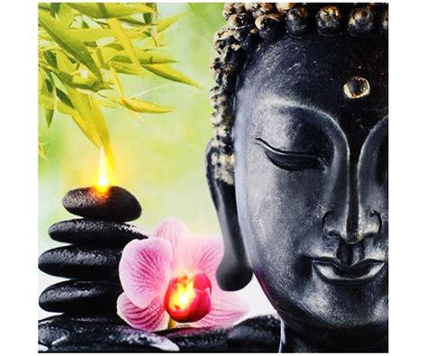 deco bouddha pas cher tableau toile cadre led d 233 co zen bouddha colonne galets noir fleur 6299