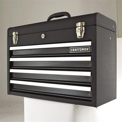 craftsman tool box dresser craftsman 4 drawer metal portable chest black wrinkle