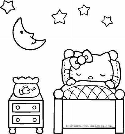 Kitty Hello Colouring Coloring Pages Printables Activity