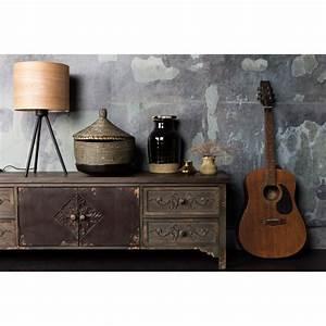 Meuble Tv Vintage : buffet vintage bois fonc grav fuz par ~ Teatrodelosmanantiales.com Idées de Décoration