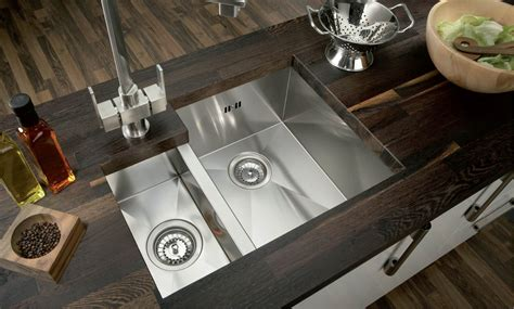 the best stainless steel sinks hafele contemporary pencil radius square 1 5 bowl