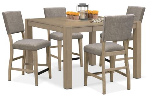 Counter Height Dining Room Tables by Tribeca Counter Height Table And 4 Upholstered Side Chairs