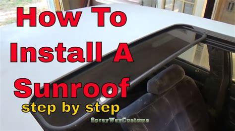 install  custom sunroof box chevy caprice