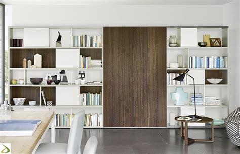 libreria con porta mobile libreria con anta scorrevole potter arredo design