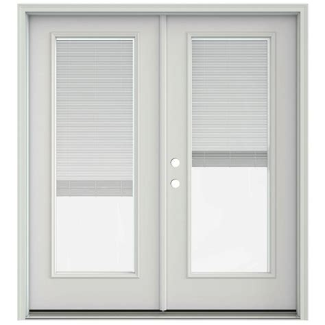 jeld wen 72 in x 80 in black prehung right inswing