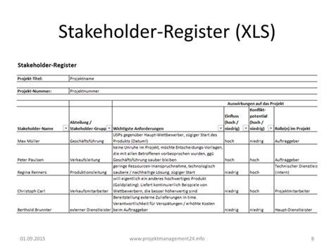 stakeholder register projektmanagement