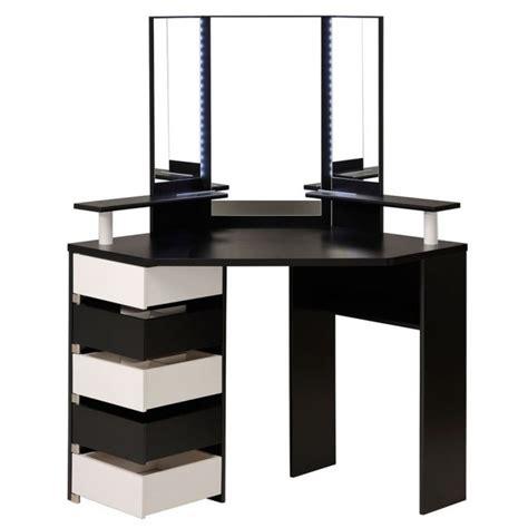 corner makeup vanity table corner vanity table with mirror shelby