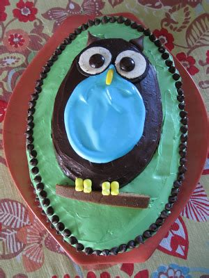 Adventures In Cake Decorating by Mintagehome Adventures In Cake Decorating The Owl Cake