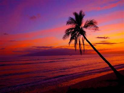 Sunset Hawaii Hawaiian Desktop Wallpapers Beach Na