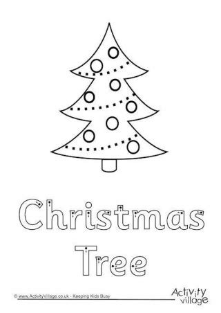 traceable christmas tree finger tracing