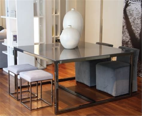 modern minimalist dining table irons  meridiani digsdigs