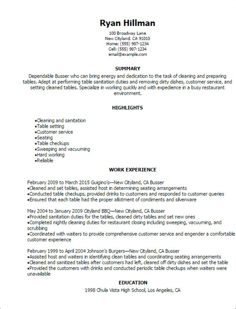 Server or waiter on resume