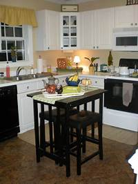 inspiring small kitchen island design Stylish Black Polished Square Small Kitchen Islands With ...