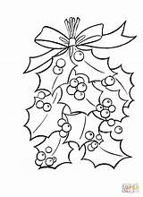 Holly Coloring Leaves Pages Berries Christmas Bright Mistletoe Ben Printable Supercoloring Leaf Decoration Tree Easy Getcolorings Quotes Cartoon Colouring Dot sketch template