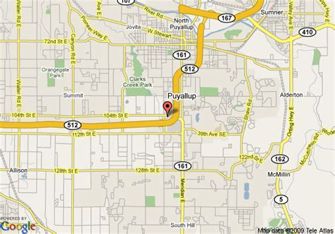 map   western park plaza puyallup