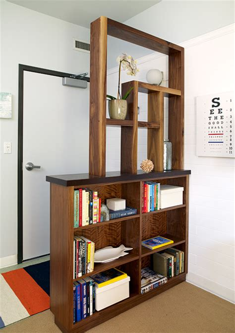 Foyer And Living Room Divider Ideas by Divider Bookcase Contemporary Entry Los Angeles By